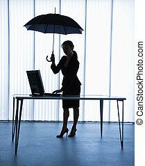 umbrella., secretária
