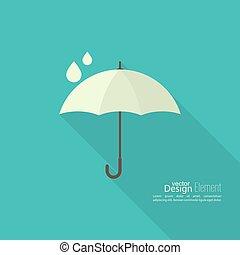 Umbrella sign icon.