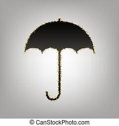 Umbrella sign icon. Rain protection symbol. Flat design...