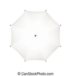 umbrella., sommet, vecteur, vide, vue., blanc
