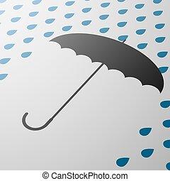 umbrella. Stock illustration.