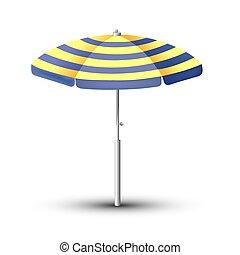 umbrella., symbol, abbildung, vektor, meer, feiertag, sandstrand