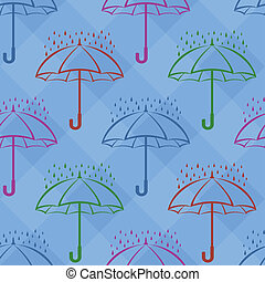Umbrella under rain, background, seamless - seamless...
