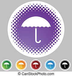 Umbrella - Utensils web button isolated on a background