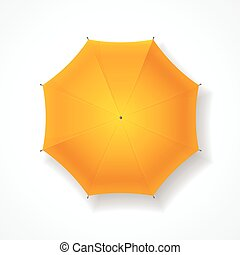 umbrella., vecteur, jaune
