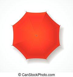 umbrella., vecteur, rouges