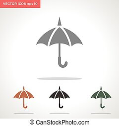 umbrella vector icon isolated on white background