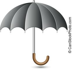 Umbrella - Vector illustration of black umbrella