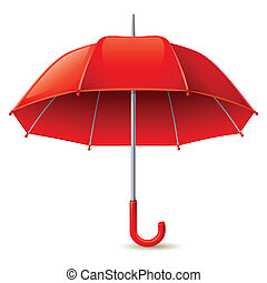 Umbrella - Vector illustration - red umbrella on white