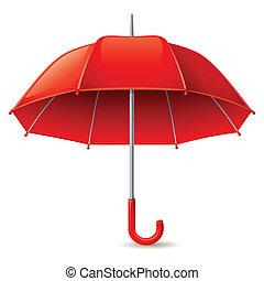 Umbrella - Vector illustration - red umbrella on white