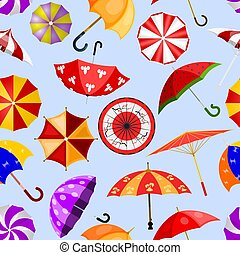 Umbrella vector umbrella-shaped rainy protection open or closed and parasol illustration set of protective cover background