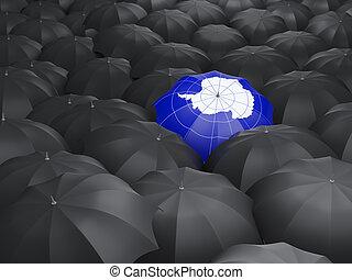 Umbrella with flag of antarctica