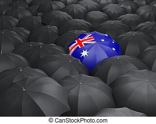 Umbrella with flag of australia