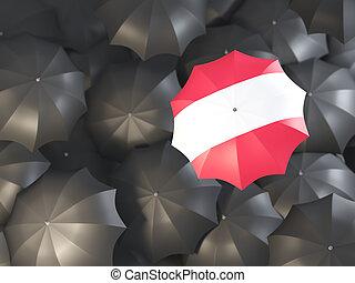 Umbrella with flag of austria
