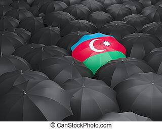 Umbrella with flag of azerbaijan