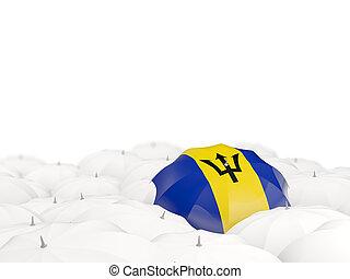 Umbrella with flag of barbados
