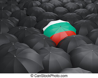 Umbrella with flag of bulgaria