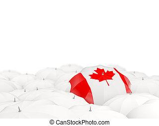 Umbrella with flag of canada