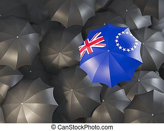 Umbrella with flag of cook islands