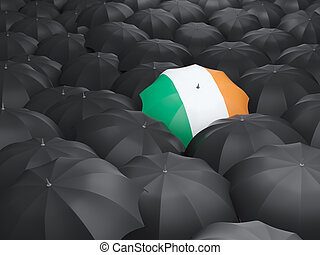Umbrella with flag of ireland