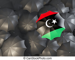 Umbrella with flag of libya