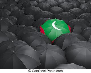 Umbrella with flag of maldives