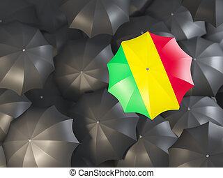 Umbrella with flag of mali