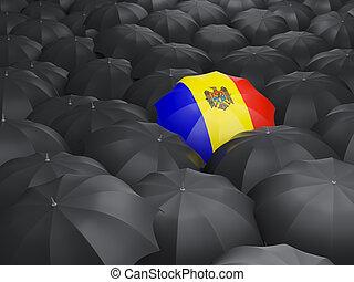 Umbrella with flag of moldova