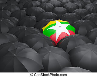 Umbrella with flag of myanmar