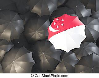 Umbrella with flag of singapore