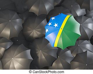 Umbrella with flag of solomon islands