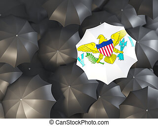 Umbrella with flag of virgin islands us