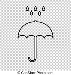 Umbrella with water drops