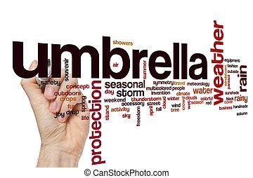 Umbrella word cloud concept