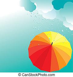 umbrellas., וקטור, דוגמה