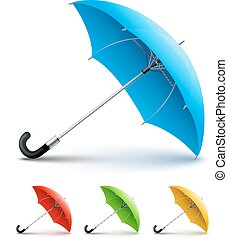 Umbrellas color set