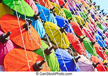 umbrella's, fatto mano, ombrello, asiatico