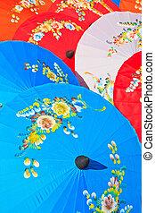 umbrella's, fatto mano, ombrello, asiatico