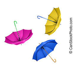 Umbrellas Isolated on White