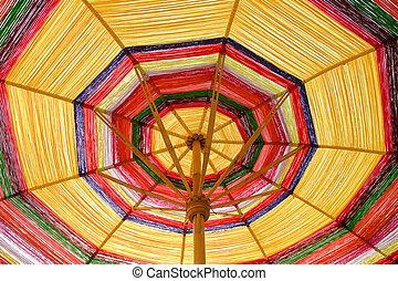 Umbrellas made ??of silk.