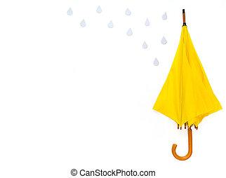 Umbrellas on a white background