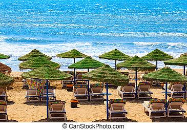 Umbrellas on the beach