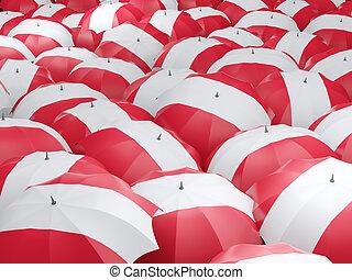 Umbrellas with flag of austria