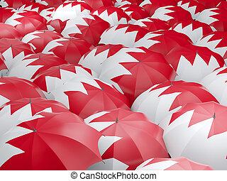 Umbrellas with flag of bahrain