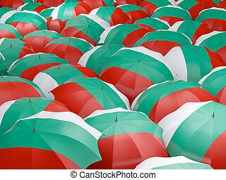 Umbrellas with flag of bulgaria