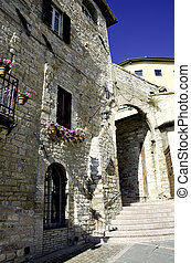 umbria, assisi, 細部, 建築である