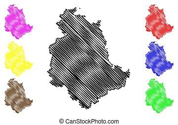 Umbria map - Umbria (Autonomous region of Italy) map vector...