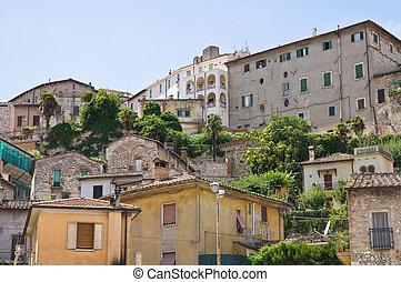 umbria., vue, italy., narni., panoramique