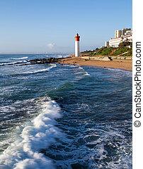 umhlanga, phare, afrique, sud