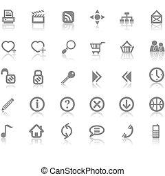 umieszczenie sieći, i, internetowa ikona, komplet